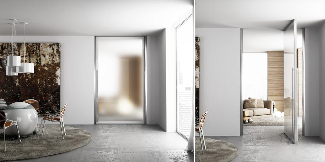 Porta filomuro master soluzione elegante e rigorosa - Porte scorrevoli tutta altezza ...