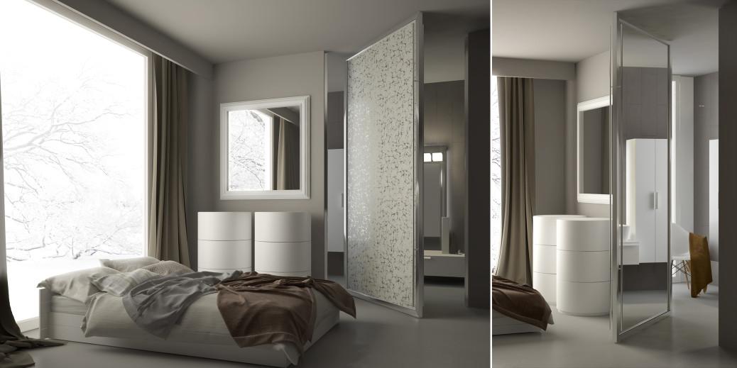 Porta a battente light semplice e funzionale - Porte invisibili scorrevoli ...