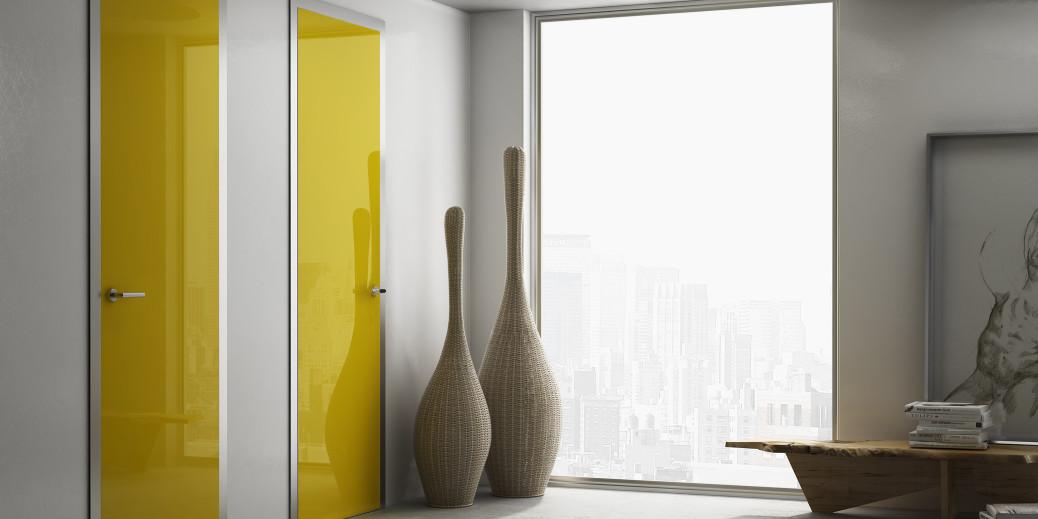 Porta filomuro master soluzione elegante e rigorosa - Porte interne colorate ...