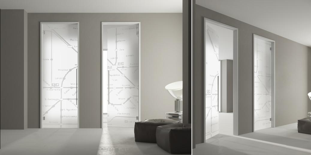 Porta in vetro per interni glass porte scorrevoli e for Corso per arredatore d interni