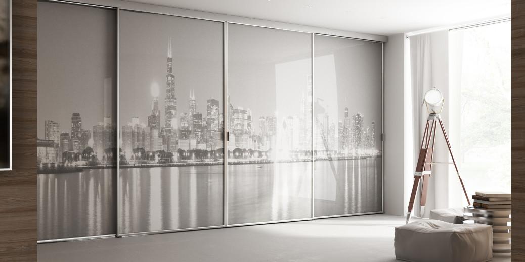 Porte scorrevoli su misura la massima superficie vetrata - Porte per cabine armadio ...