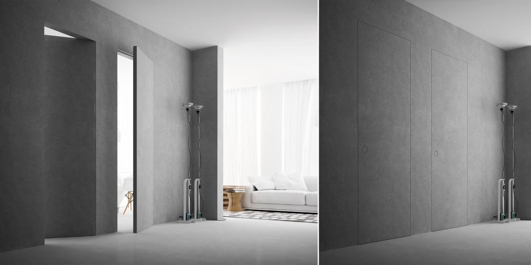 Secret porte invisibili e sportelli rasomuro - Porte placard invisible ...