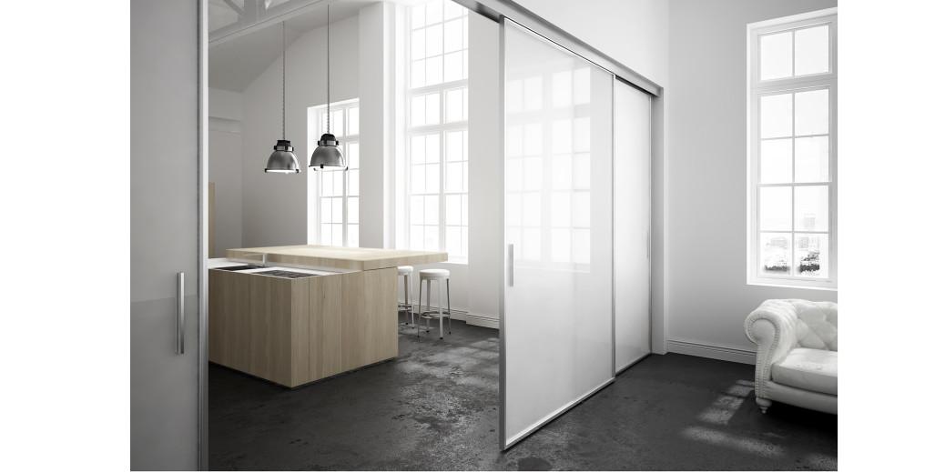 Porte scorrevoli su misura: la massima superficie vetrata