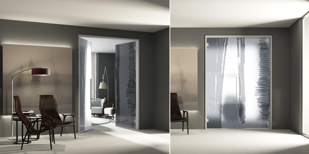 Glass - Porte scorrevoli e battenti per arredamento moderno e ...