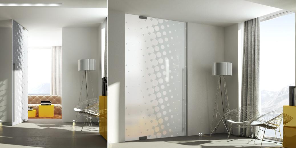 Porta in vetro per interni glass il vetro protagonista - Porte in legno e vetro per interni ...