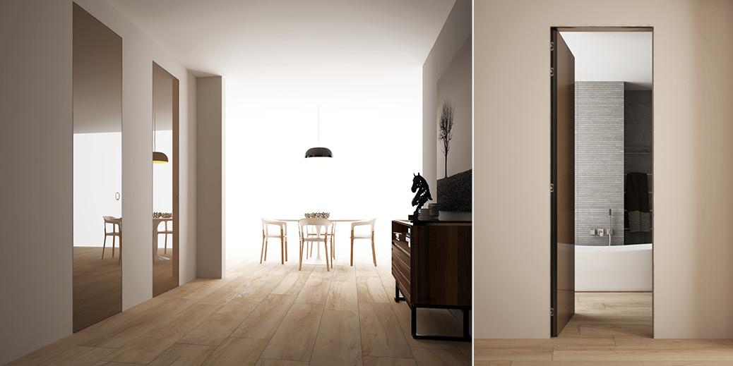 Porte scorrevoli e battenti per arredamento moderno e for Master arredamento interni