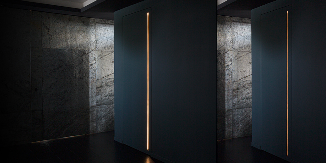 Porta battente con luce integrata XDoor©